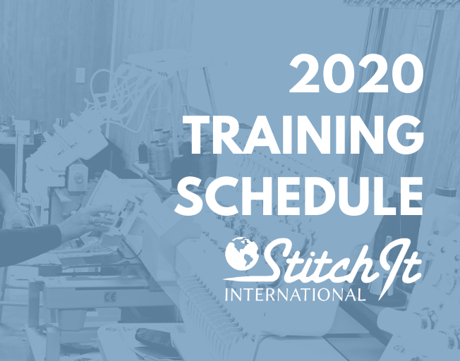 2020 SWF Embroidery Training Schedule at Stitch It