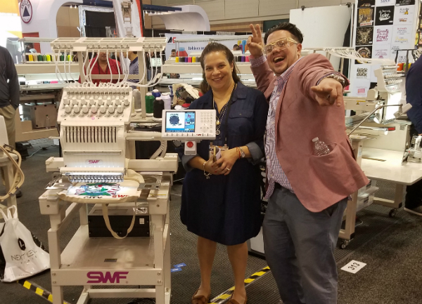 SWF Announces ISS Atlantic City Giveaway Winner of New Embroidery Machine