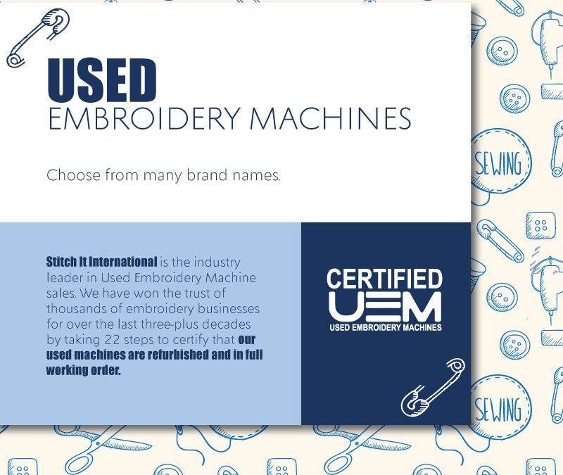 What is the Certified Used Embroidery Machines division?