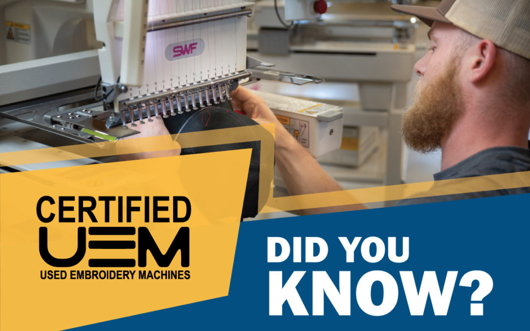 Why buy your next used embroidery machine from Stitch It International?
