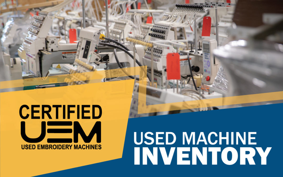 Used Embroidery Machines Inventory List